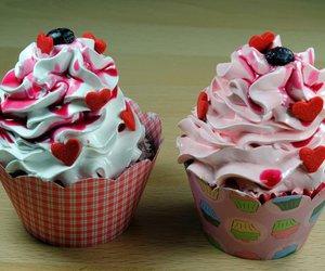 cupcake, food, and love image