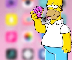 homer, wallpaper, and simpsons image