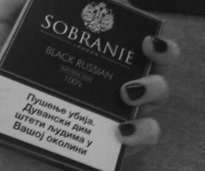 cigarete, sobranie, and black sobranie image