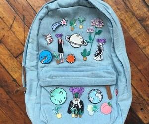 blue, backpack, and bag image