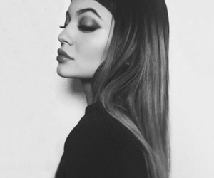kylie jenner, jenner, and black and white image