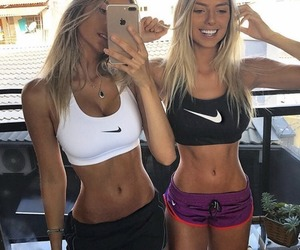 fitness, girl, and outfit image