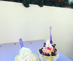 food, mango, and yogurth image