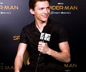 gif, spiderman, and tom holland image
