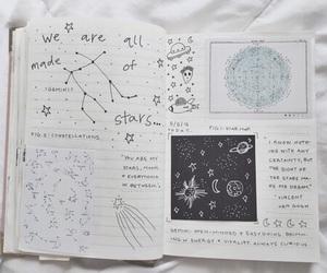 journal, art, and stars image