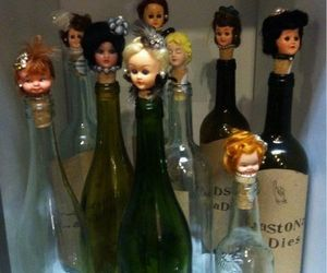 barbie, bottle, and Psycho image