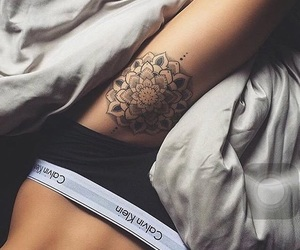 tattoo, Calvin Klein, and body image