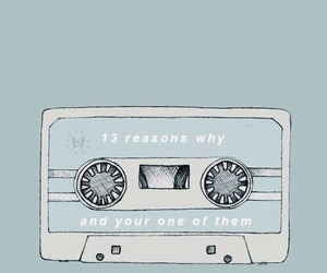 blue, wallpaper, and 13reasons why image