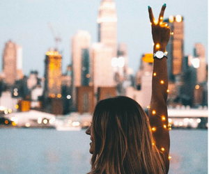 lights, city, and fun image