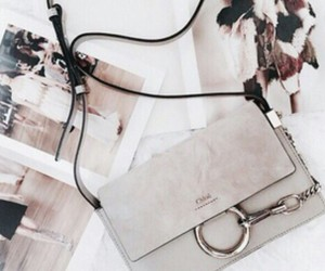 bag, clutch, and grey image