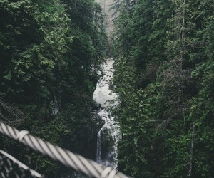 nature, grunge, and waterfall image