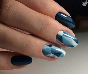 nails, white, and bleue image