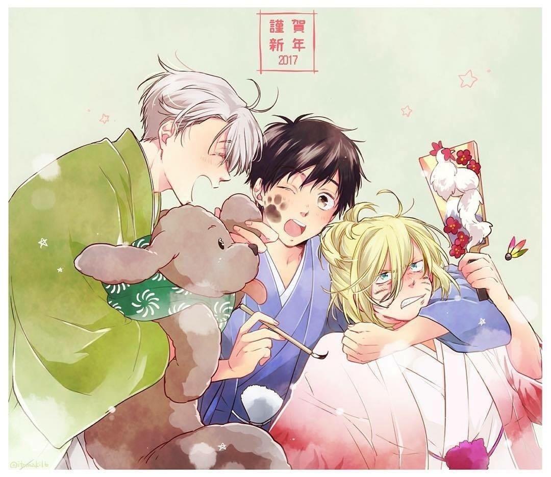 yuri, viktor, and yuri on ice image