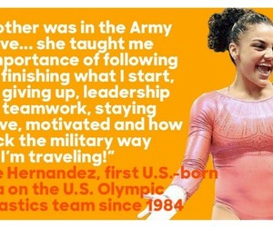 laurie hernandez, don't give up, and mother image