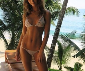 beach, body, and leaves image