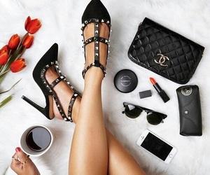 coffee, fashion, and heels image