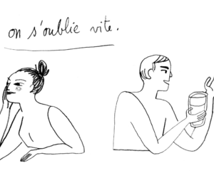 alcohol, drawing, and drinking image