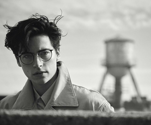 b&w, glasses, and cole sprouse image