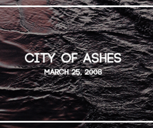 book, edit, and city of ashes image