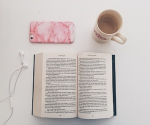 aesthetic, coffee, and book image