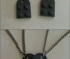 black, couple, and necklaces image