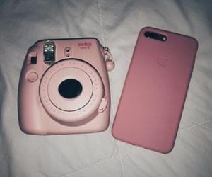 instax, iphone, and pink image