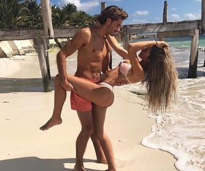 beach, theme, and couples image