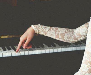 piano, music, and lace image