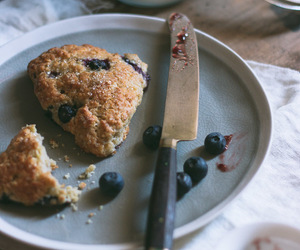 blueberry, food, and scone image