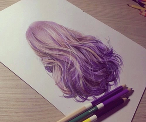 hair, drawing, and art image