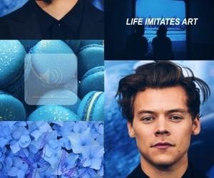 art, blue, and fanart image