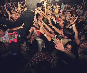 party, concert, and crowd image