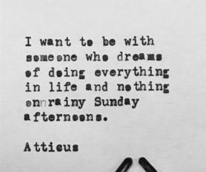 love, atticus, and poem image