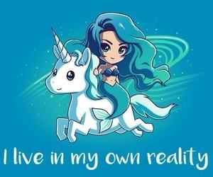 unicorn, mermaid, and blue image