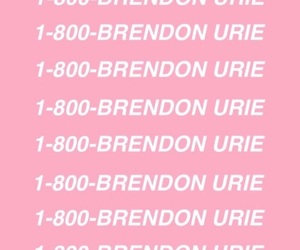 brendon urie, P!ATD, and pink image