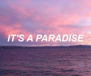 Lyrics, paradise, and pastel image