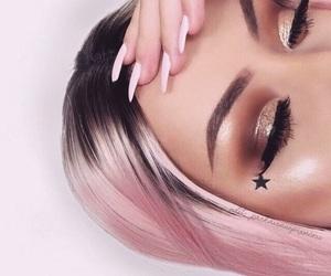 aesthetic, eye makeup, and girl image
