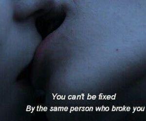 depress, heart broken, and kiss image