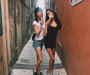 madison beer, amanda steele, and ice cream image