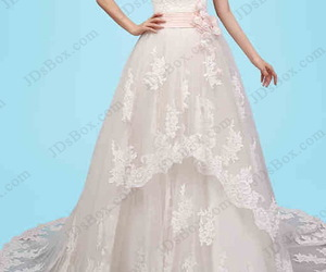 bridal gown, tiered, and princess wedding dress image