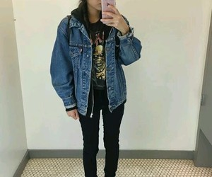 outfit, girl, and grunge image