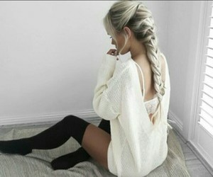 casual, hermoso, and girl image