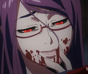 tokyo ghoul, anime, and rize image