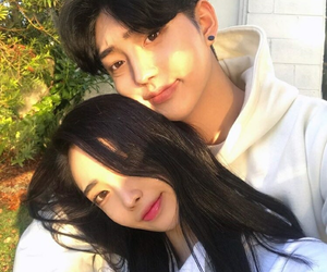couple, cute, and asian image