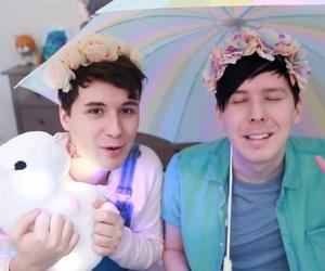 dan and phil, dan, and pastel image