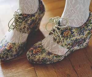 shoes and floral image
