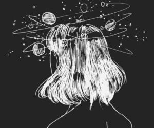 bw, universe, and universo image