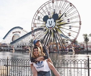 disney land, ferris wheel, and friend image