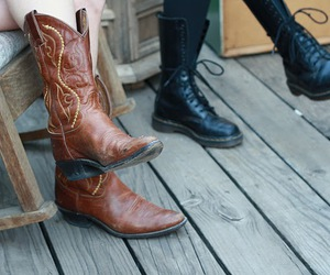 boots, cowboy, and deck image