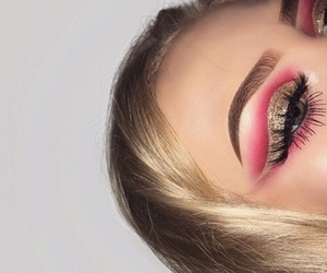 blonde, eyeshadow, and gold image